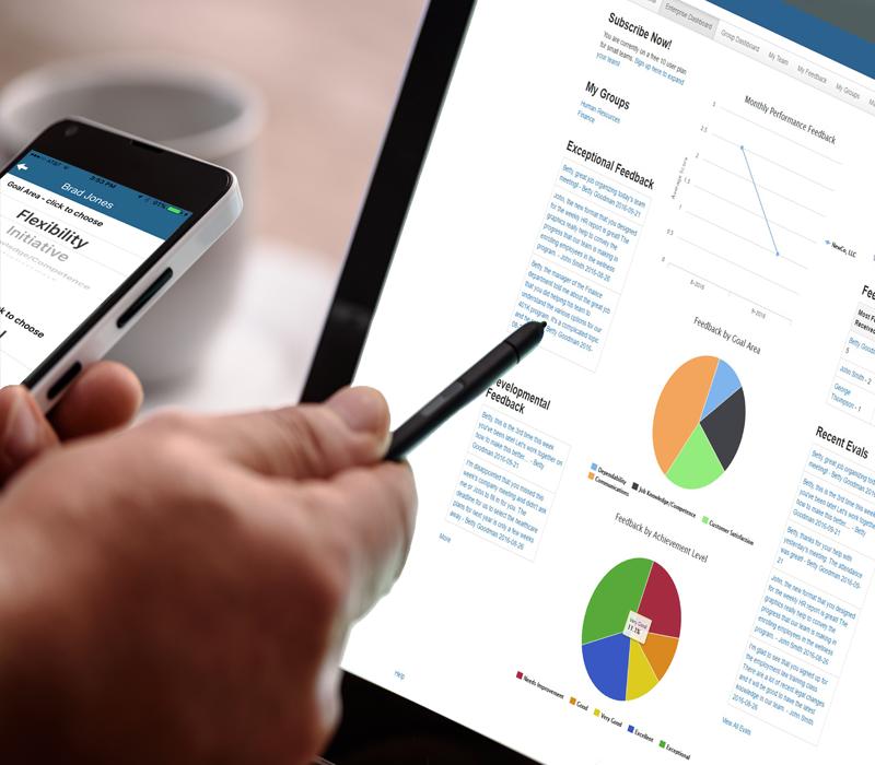 Performance Management Using SnapEval Desktop Dashboard and Mobile App