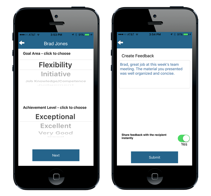 Performance Management Using SnapEval Mobile App