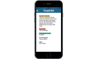 SnapEval Continuous Performance Management for HR Administrators