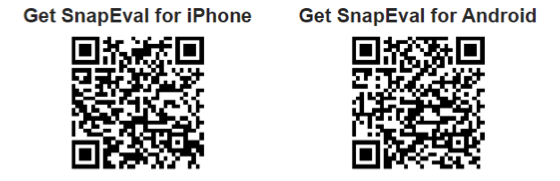 QR Codes for SnapEval Apps