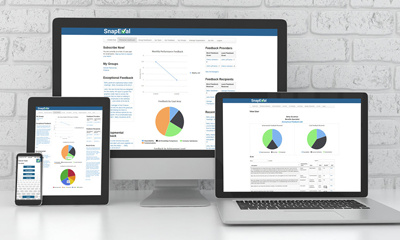 SnapEval Continuous Performance Management on Desktop, Tablet, and Mobile