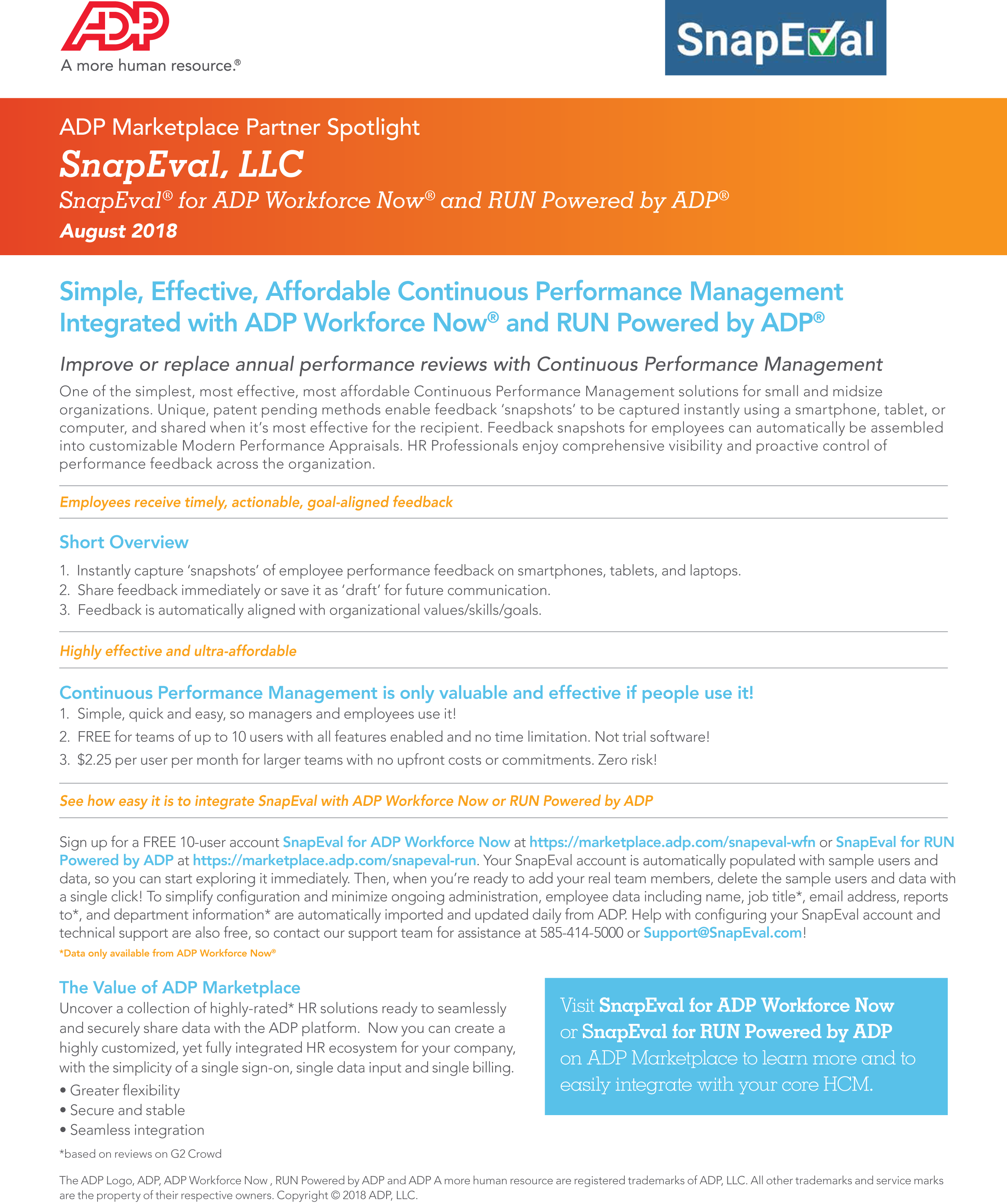 ADP SnapEval Testimonial - Real-Time Performance Management