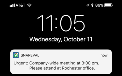 Push Notification Messages Deliver Urgent Communications